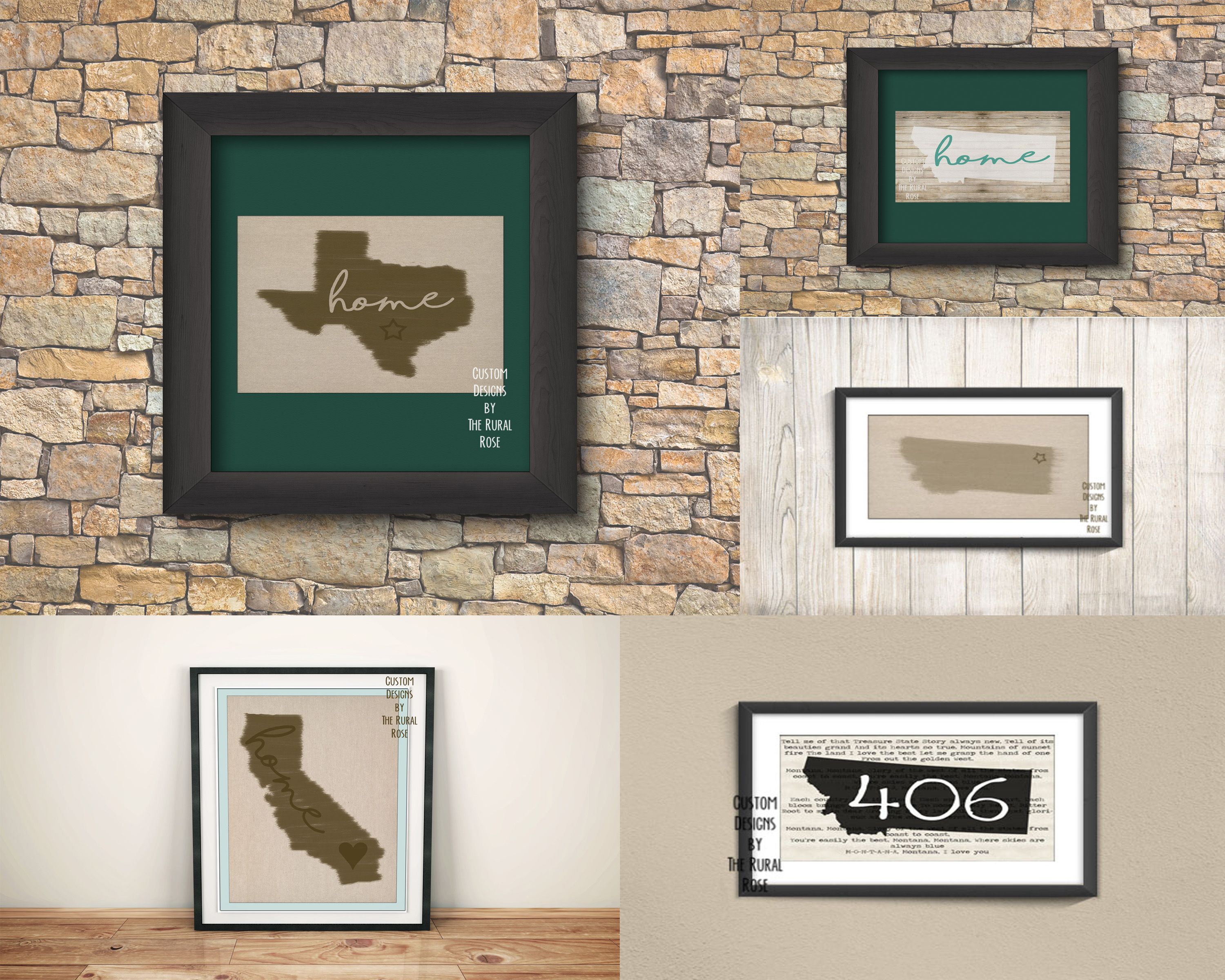 Montana State Song -- Wall Art -- Home Decor --