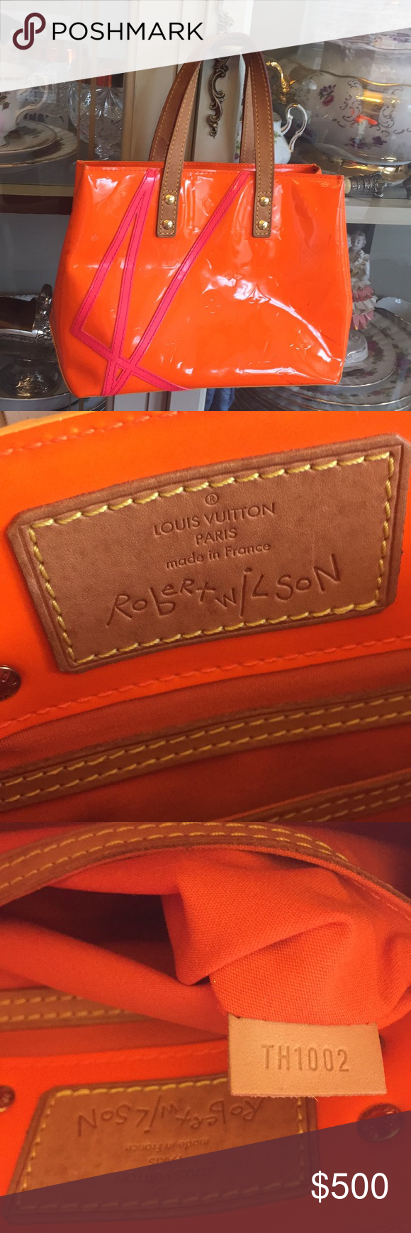 Orange Leather Louis Vuitton Wallpaper