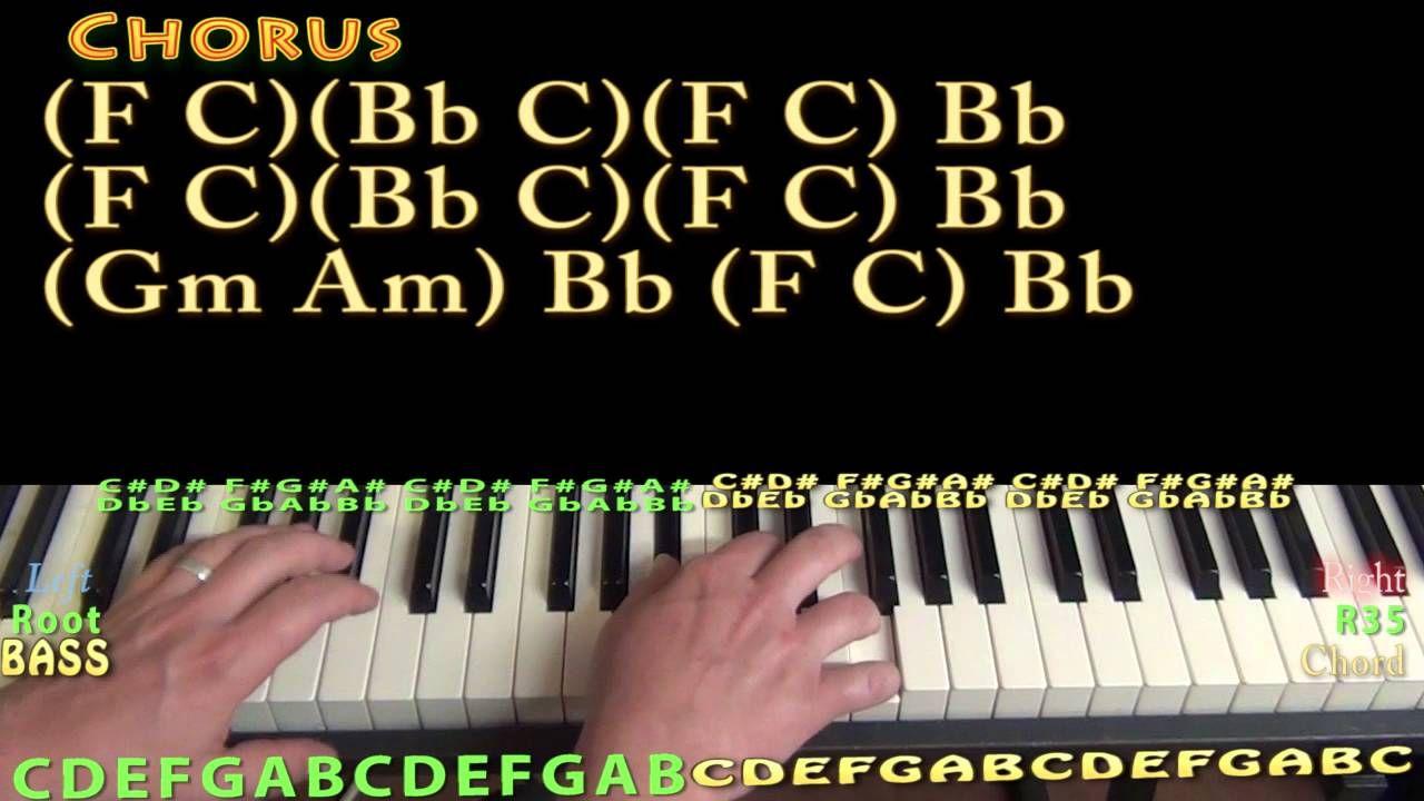 Record Year (Eric Church) Piano Lesson Chord Chart Piano