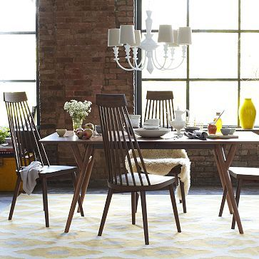 Mid Century Expandable Dining Table Walnut Modern Dining Room Modern Dining Room Tables Expandable Dining Table