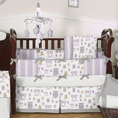 Purple Owl Nursery Google Search Owl Crib Bedding Grey Baby