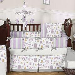 Purple Owl Nursery Google Search Owl Crib Bedding Grey Baby