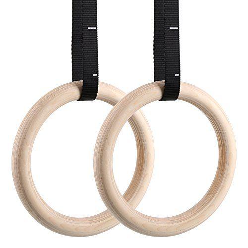 Olympic Gymnastikringe Crosstraining Fitness Turnringe Gymnastik Holz Ringe Set