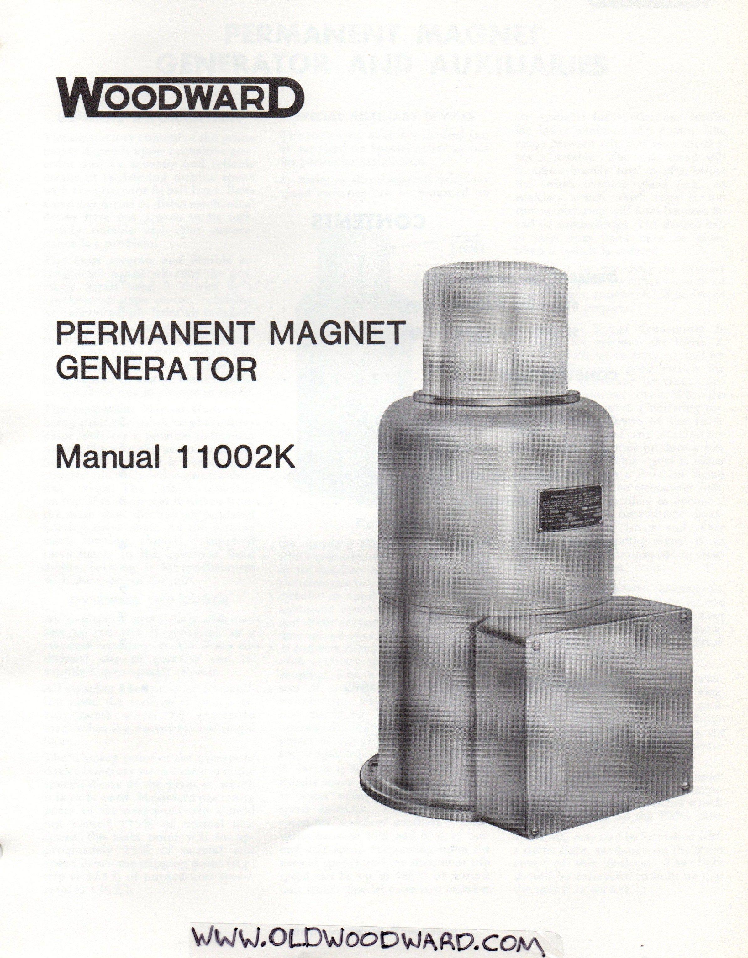 woodward governor company s pmg manual 11002k hydro electric rh pinterest com permanent magnet generator user manual permanent magnet generator construction manual pdf