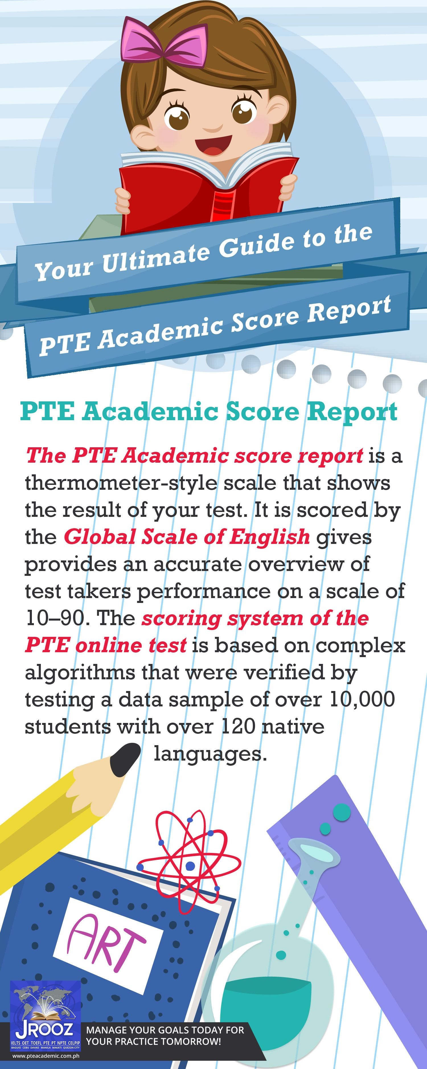 The scoring system of the PTE online test is based on