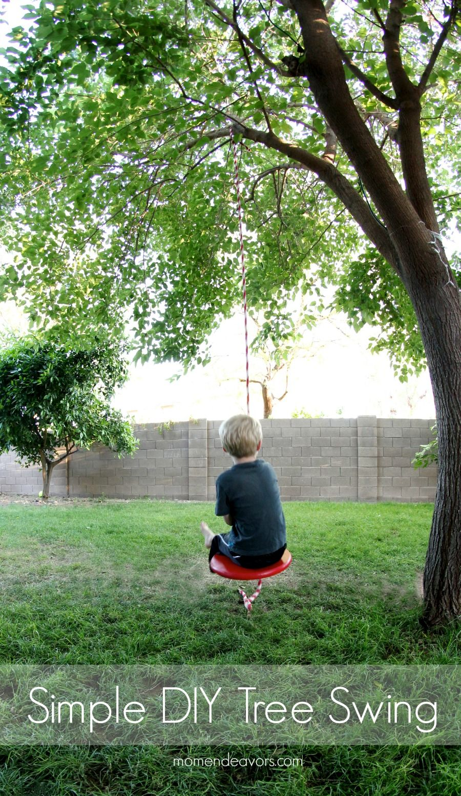 Simple DIY Tree Swing - Mom Endeavors