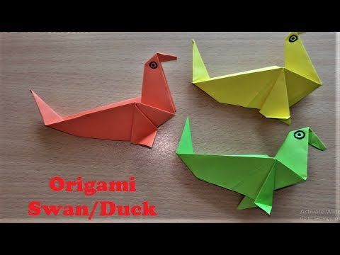 How To Make Origami Paper Swan Duck