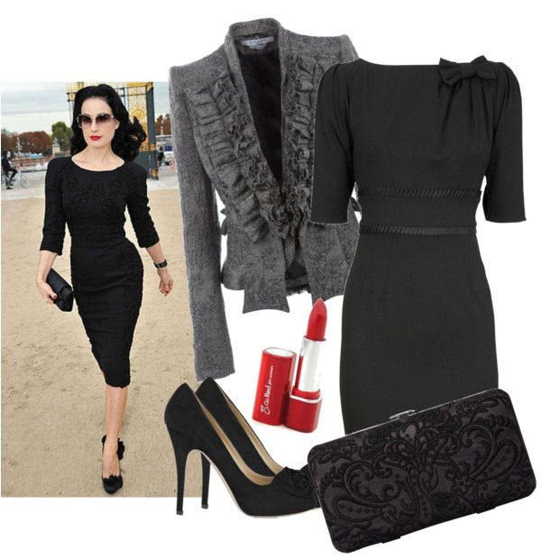 """""""Lady in black"""" by coccinellanna on Polyvore"""