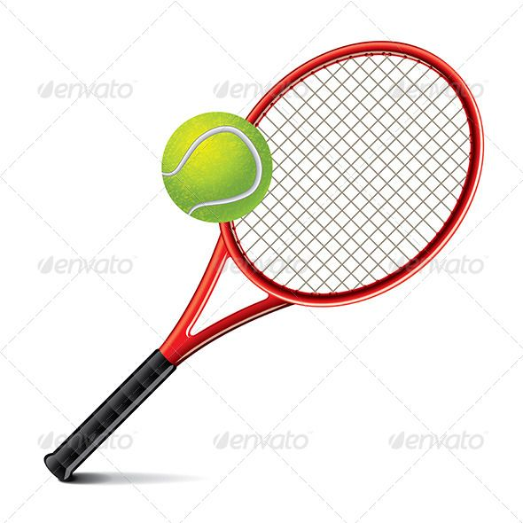 Tennis Racket And Ball Vector Illustration Tennis Racket Tennis Rackets