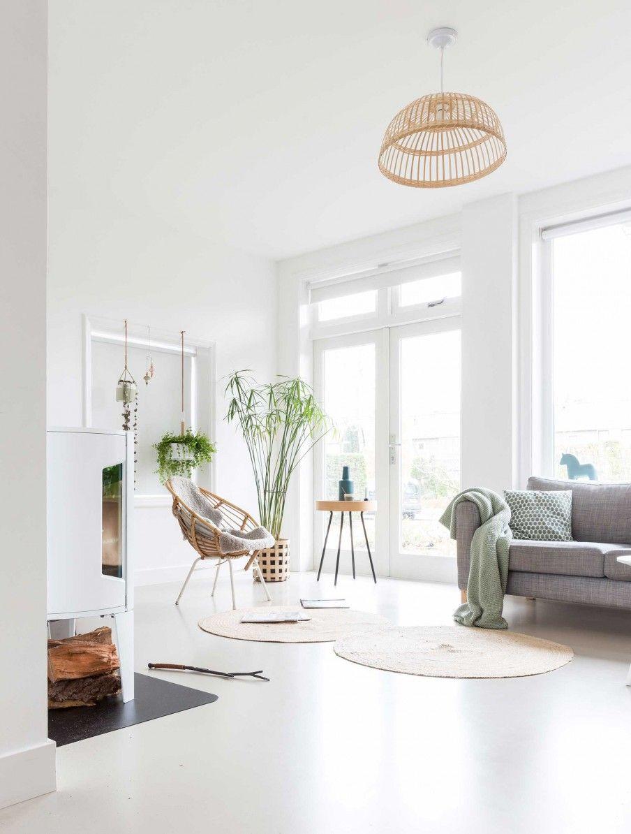 Intérieur lumineux et une jolie déco végétale | Living | Pinterest ...