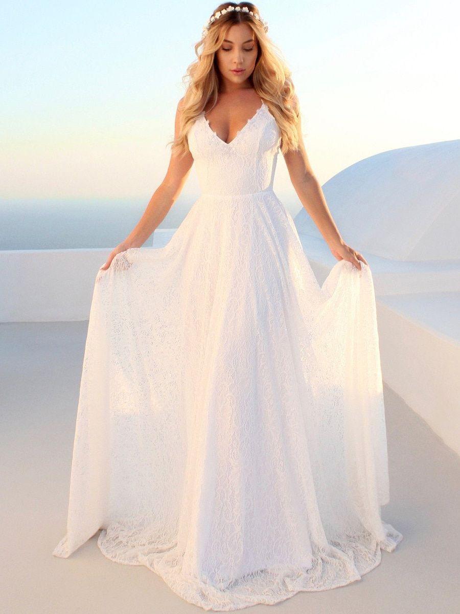 Buy Women s Full Dress Sexy V Neck Maxi Long Dress   Wedding Dresses - at  Jolly 31c111913