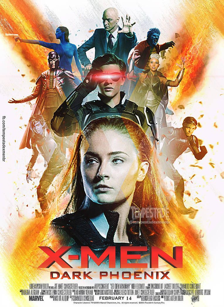 X Men Dark Phoenix Poster By Tempestadexmenbr01 Dark Phoenix X Men Comic Movies