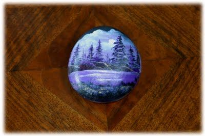 Crystal Pinecone: Hand Painted Rocks