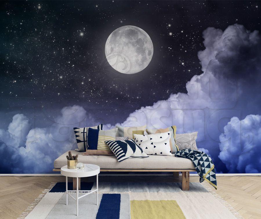 ورق جدران منظر ليلي Coffee Table Home Decor Decor