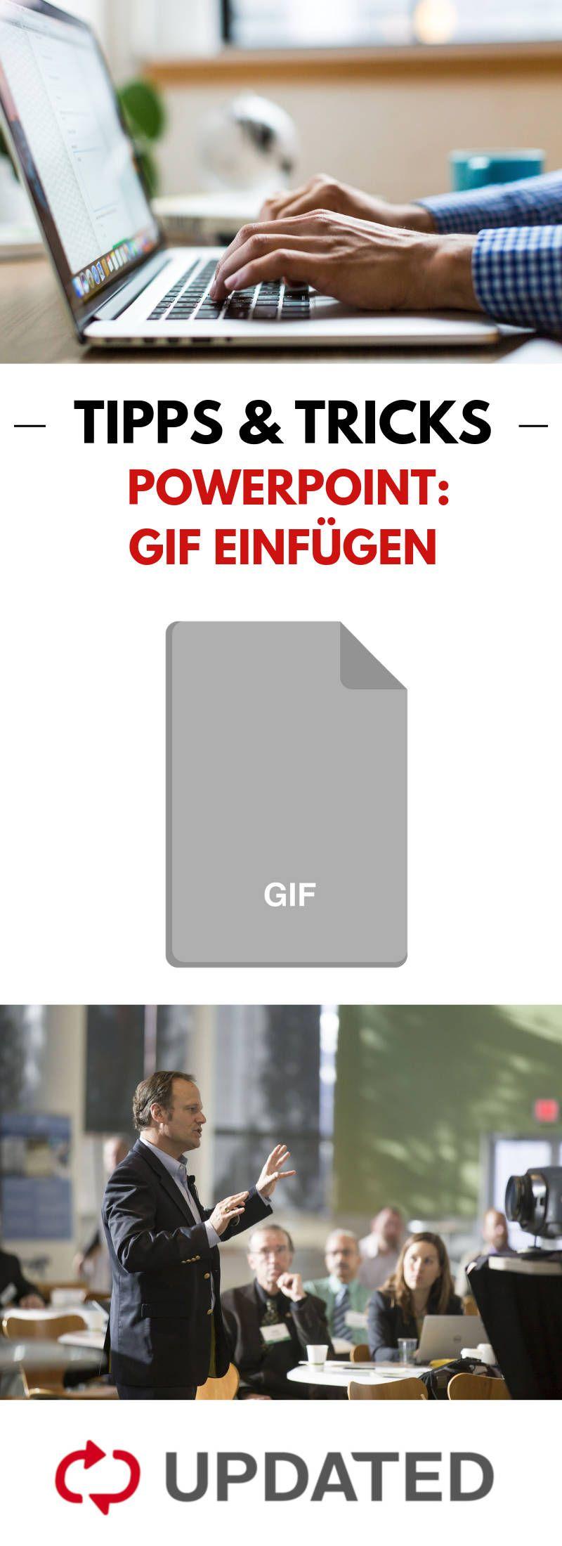 Gif In Powerpoint Einfugen Und Bearbeiten Schritt Fur Schritt Powerpoint Prasentation Power Point Buroorganisation Tipps