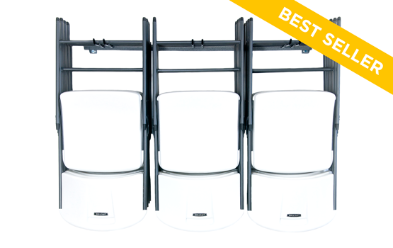 Stop Hoping Your Folding Chairs Will Stay Leaned Up Against The Wall And  Opt For Our Large Folding Chair Rack Instead.