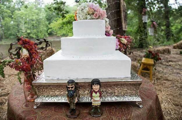 Phil and Kay's wedding cake