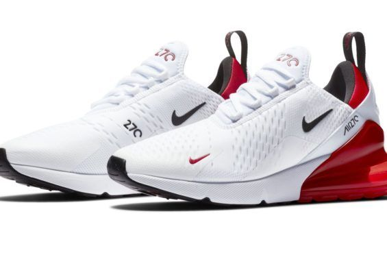 5cc182381e Omgggg I'm in love with 270s already I need this pair too Nike Air Max 270  White University Red Coming Soon #Sneakers