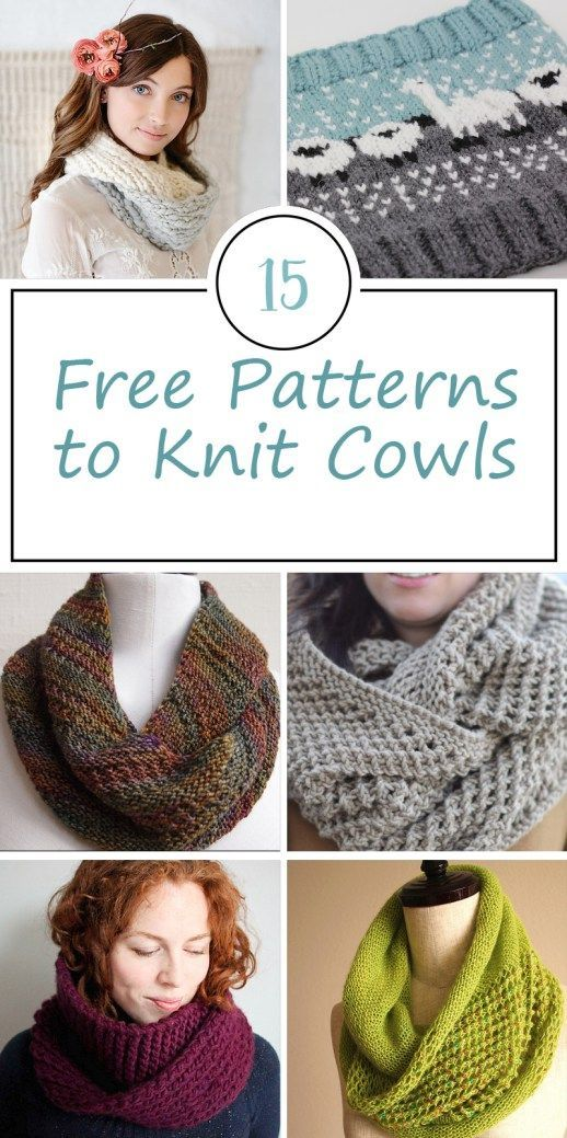 Free Patterns for Knitted Cowls | Puntadas de ganchillo, Bricolaje y ...
