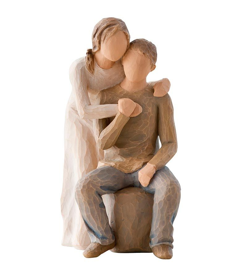 Expressing A Couple Building On Their Love Every Day This You And Me Willow Tree Figurine Perfectly Cap Willow Tree Figurines Willow Tree Willow Tree Figures