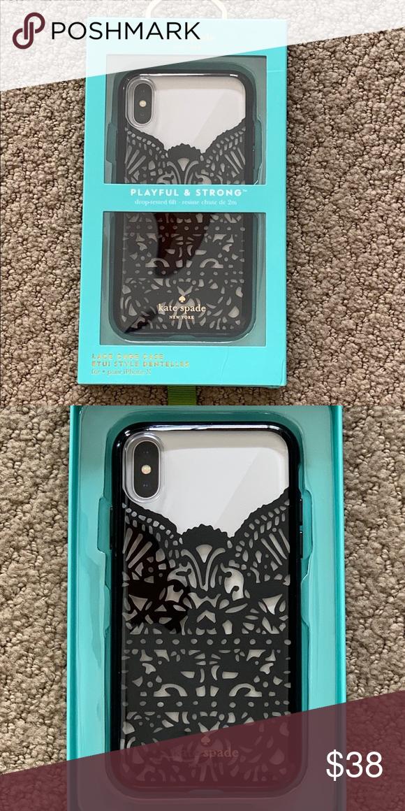 release date: 0372d 0b2a7 💗SALE💗NIB Kate Spade Lace iPhone X Case Brand New iPhone X Lace ...