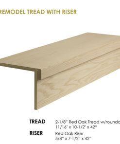 Best 42″ Modern Retrofit Tread Kit With Riser In 2020 Wood 400 x 300