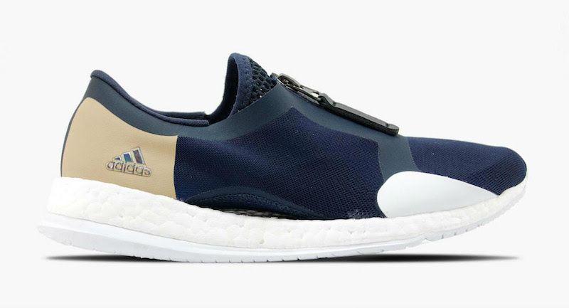 591949340 adidas NMD Blue Mesh Black Boost Sneaker Bar Detroit
