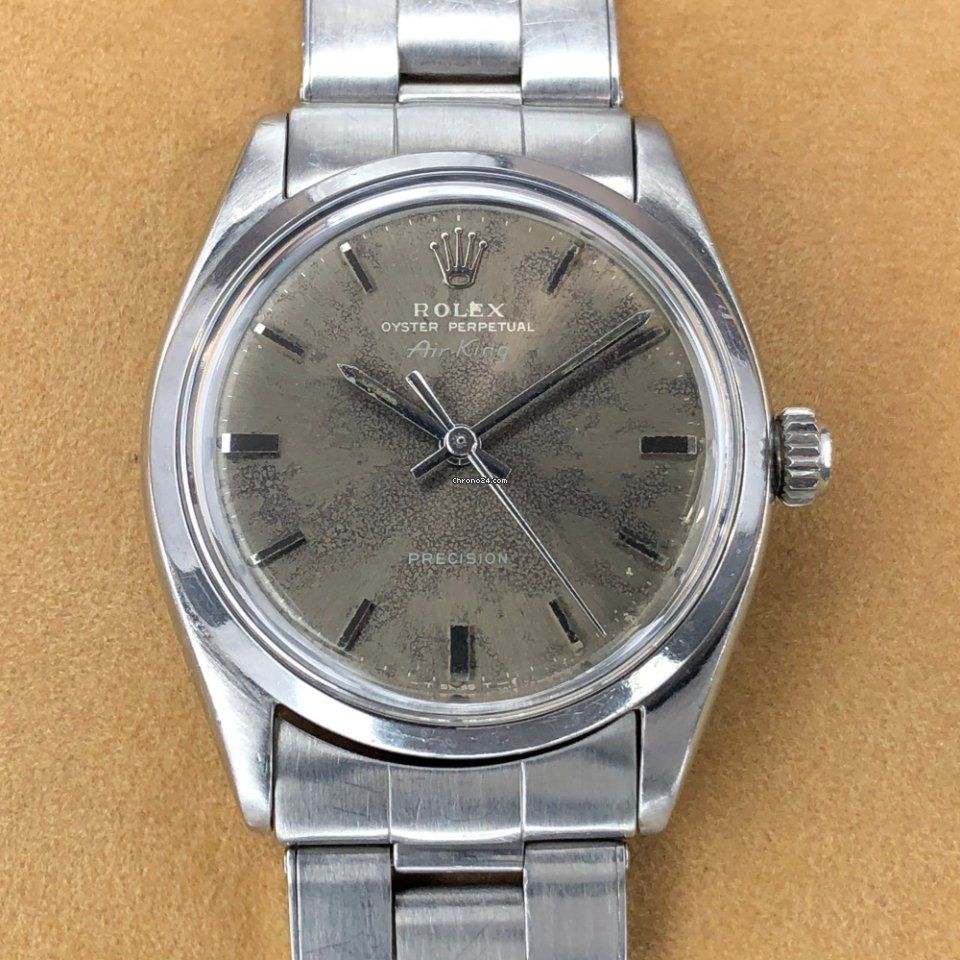 Rolex 5500 AirKing Grey Khaki Stick Dial 1959 for