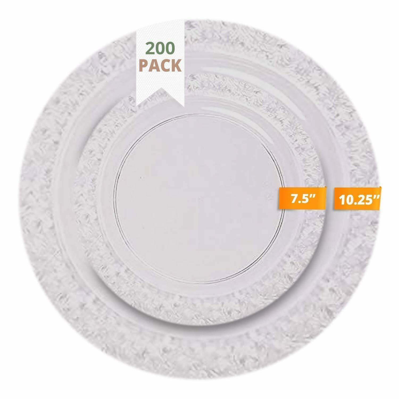 Ttg 200 Piece Plastic Dinnerware Set 100 Dinner Plates 100 Salad Plates Dinnerware Ideas Of Dinnerware Dinnerware Casualdinnerware Plastic Dinnerware Sets Plastic Dinnerware Dinnerware