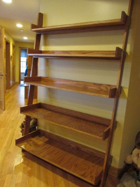 Leaning Ladder Shelf From The Kreg Owners Community