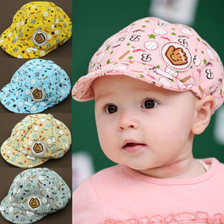 Cute Toddler Baby Boy Girls Sun Cap Summer Cotton Baseball Hat