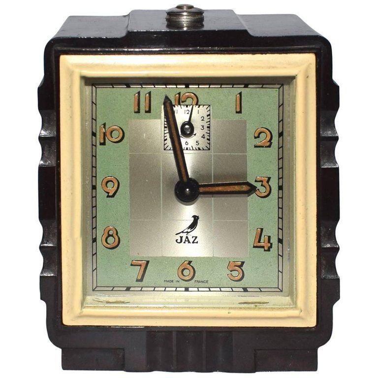 Rare Art Deco 1930s French Bakelite Miniature Alarm Clock 1 Vintage Alarm Clocks Clock Vintage Clock