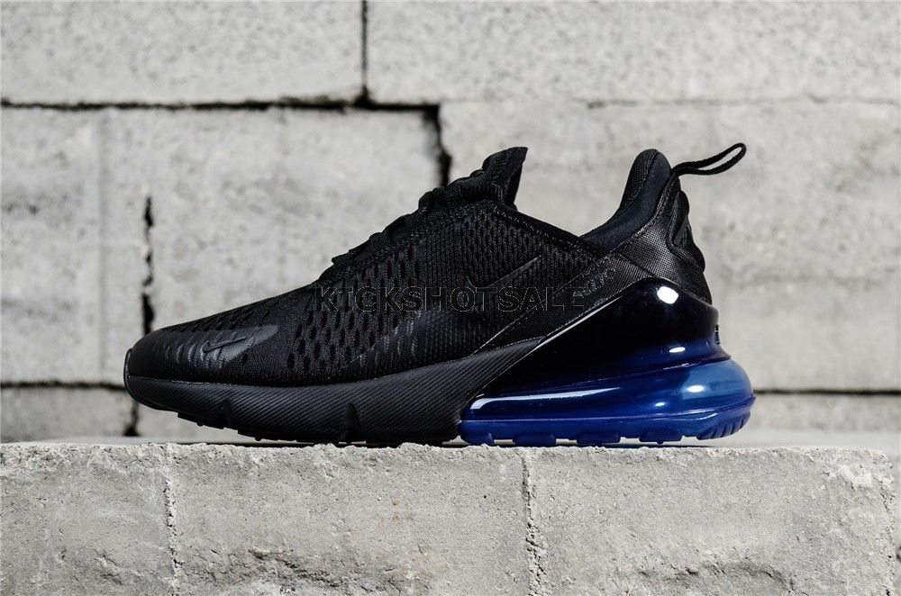 f3e9d519 Nike Air Max 270 Black Black-Photo Blue AH8050-009 | shoe site in ...