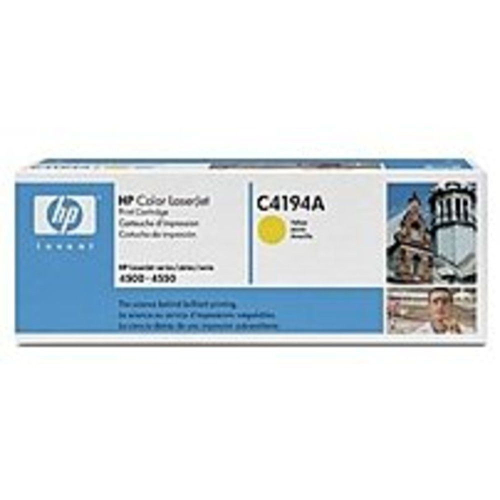 HP C4194A Laser Toner Cartridge for Color LaserJet 4500, 4550, 4550N, 4550DN, 4550HDN - 6,000 Pages - 1-Pack - Yellow