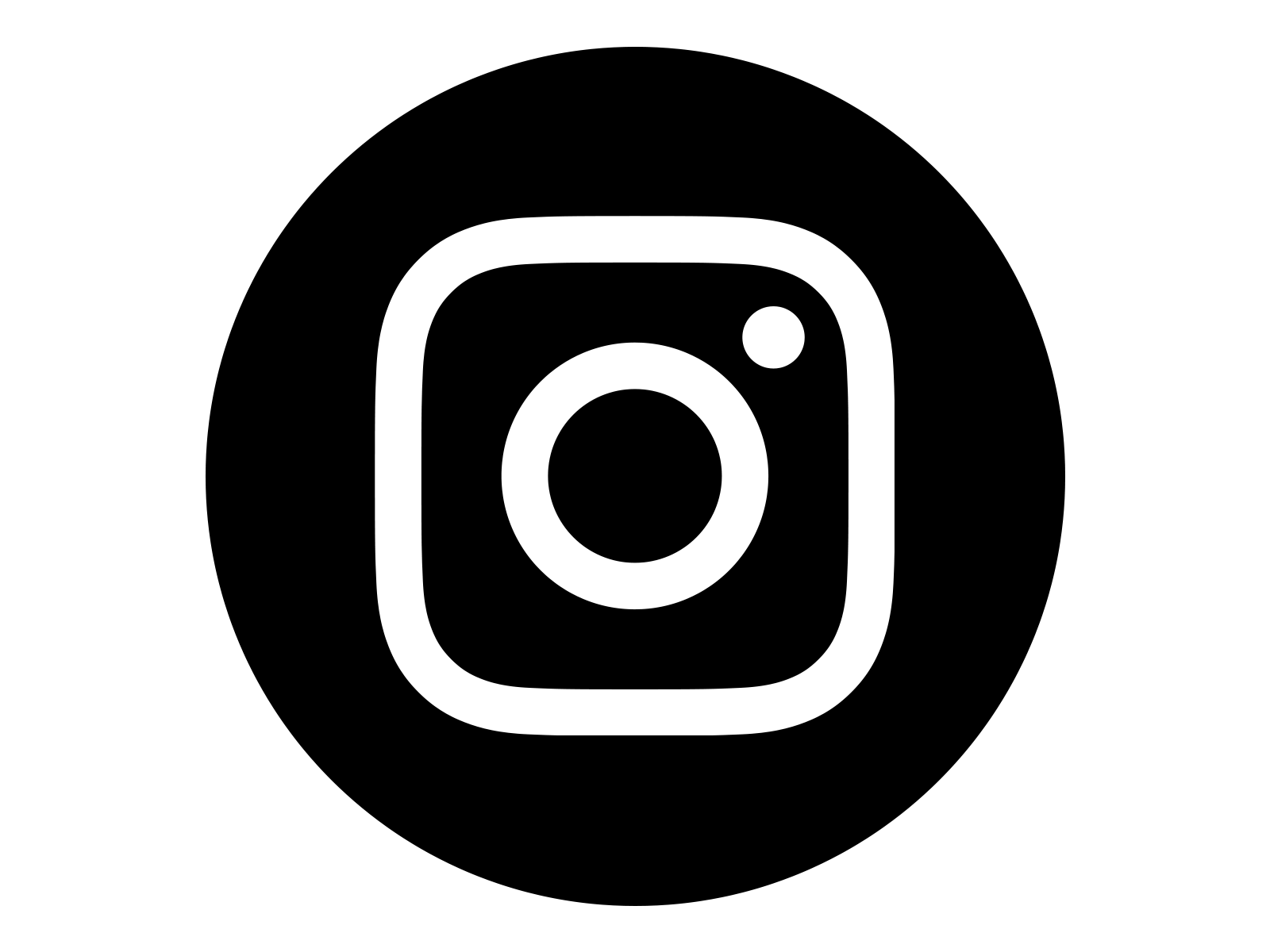 Instagram Icon White on Black Circle Objek gambar