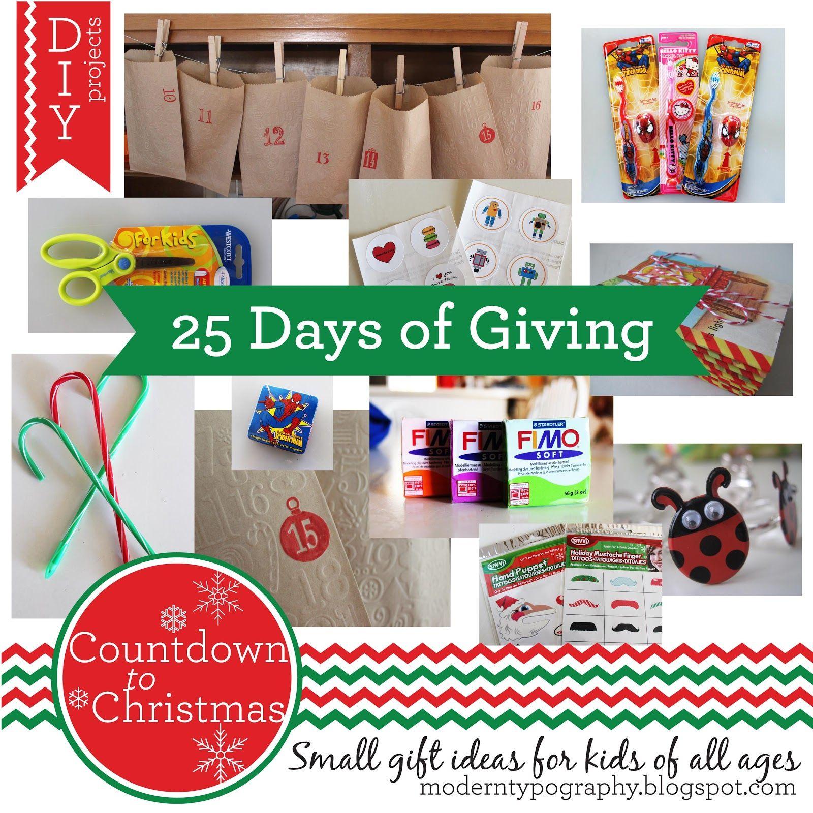 Good Christmas Countdown Gift Ideas Part - 2: Modern Typography: Countdown To Christmas: 25 Small Gift Ideas