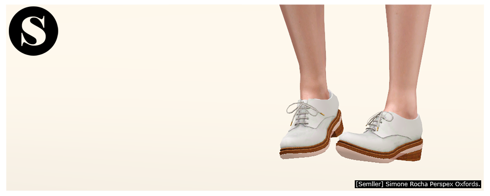 My Sims 3 Blog: Simone Rocha Perspex Oxfords and Hi Brogues for Fe.