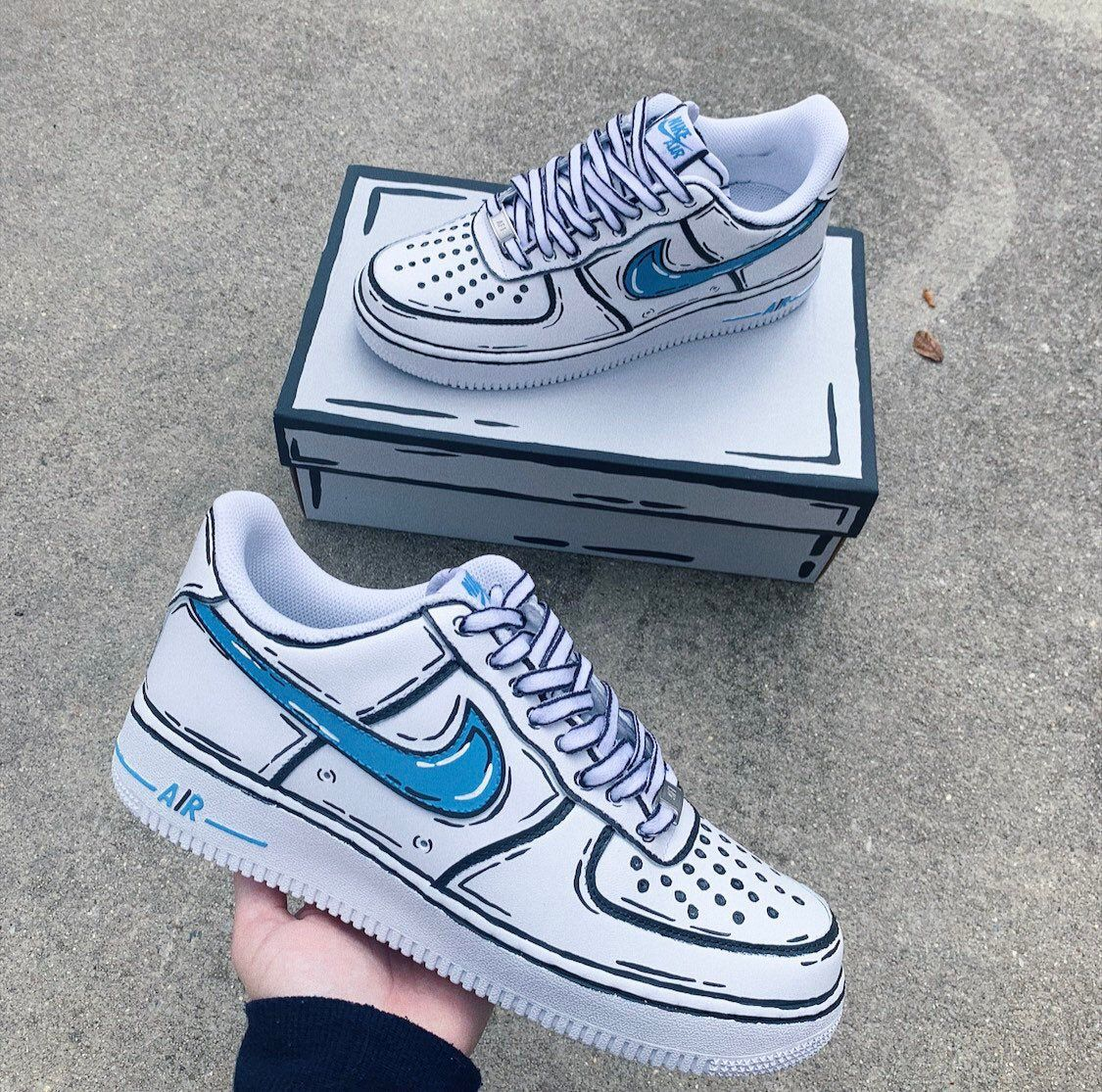 Cartoon Nike Air Force 1 Custom Shoes (Made To Order
