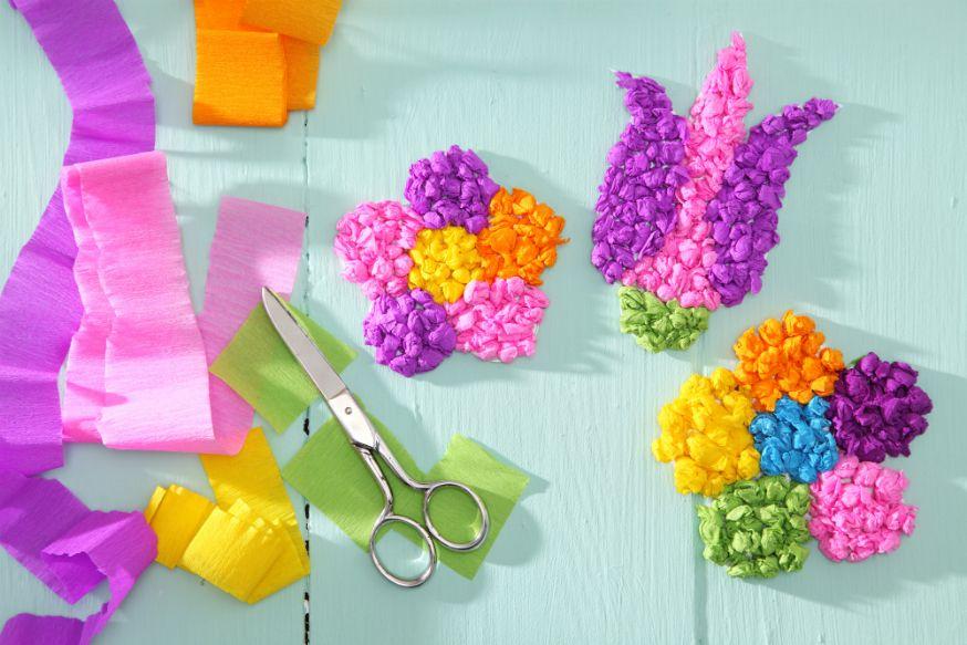 Bunte Blumenblüten Für Kleine Feen. • Umsetzung Und Foto