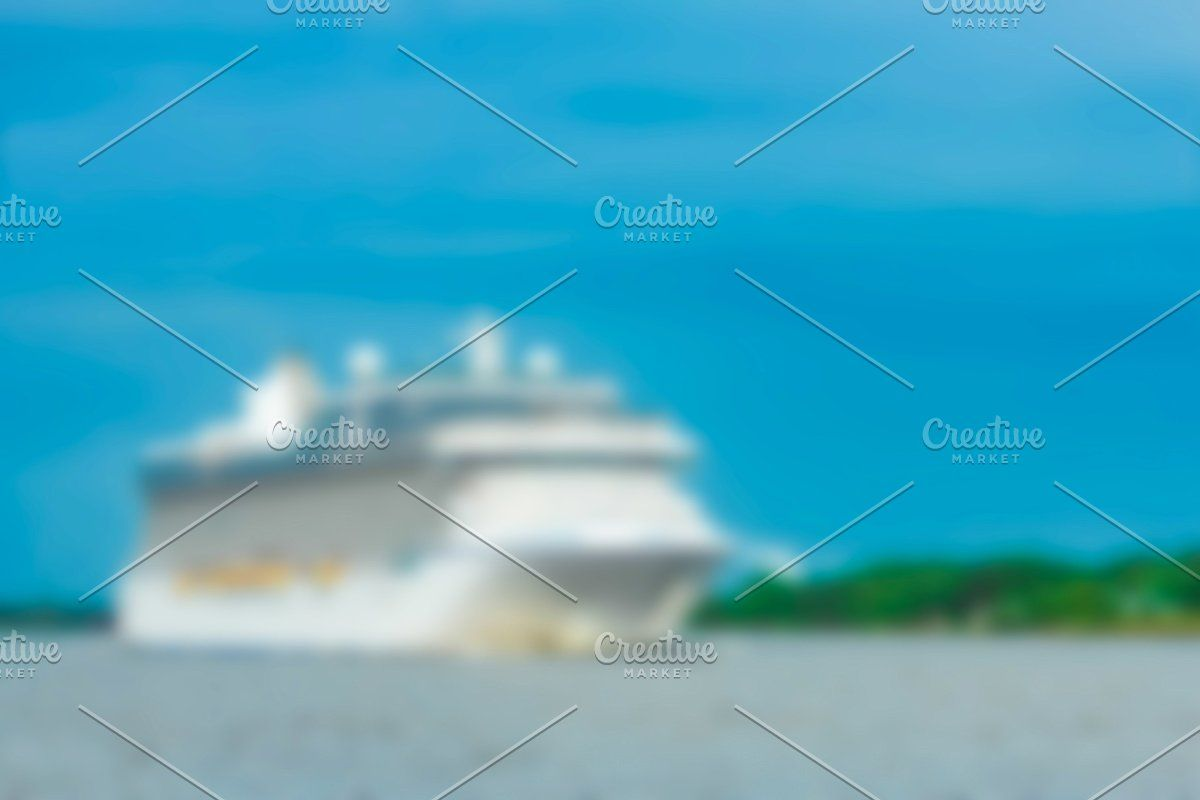 Photo of Cruise liner – blurred image #Sponsored , #paid, #soft#lens#Cruise#liner