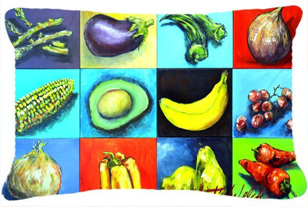 Mixed Fruits and Vegetables Fabric Decorative Pillow MW1227PW1216