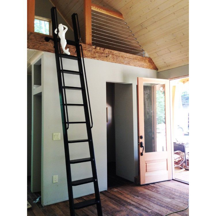 Wood Ladder Wooden Ladder Loft Ladder Interior Ladder Library Ladder Painted Ladder Handmade Ladder Handcrafted B Loft Ladder Library Ladder Wood Ladder