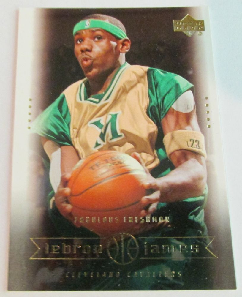 200304 ud lebron james rookie card 1 lebron james