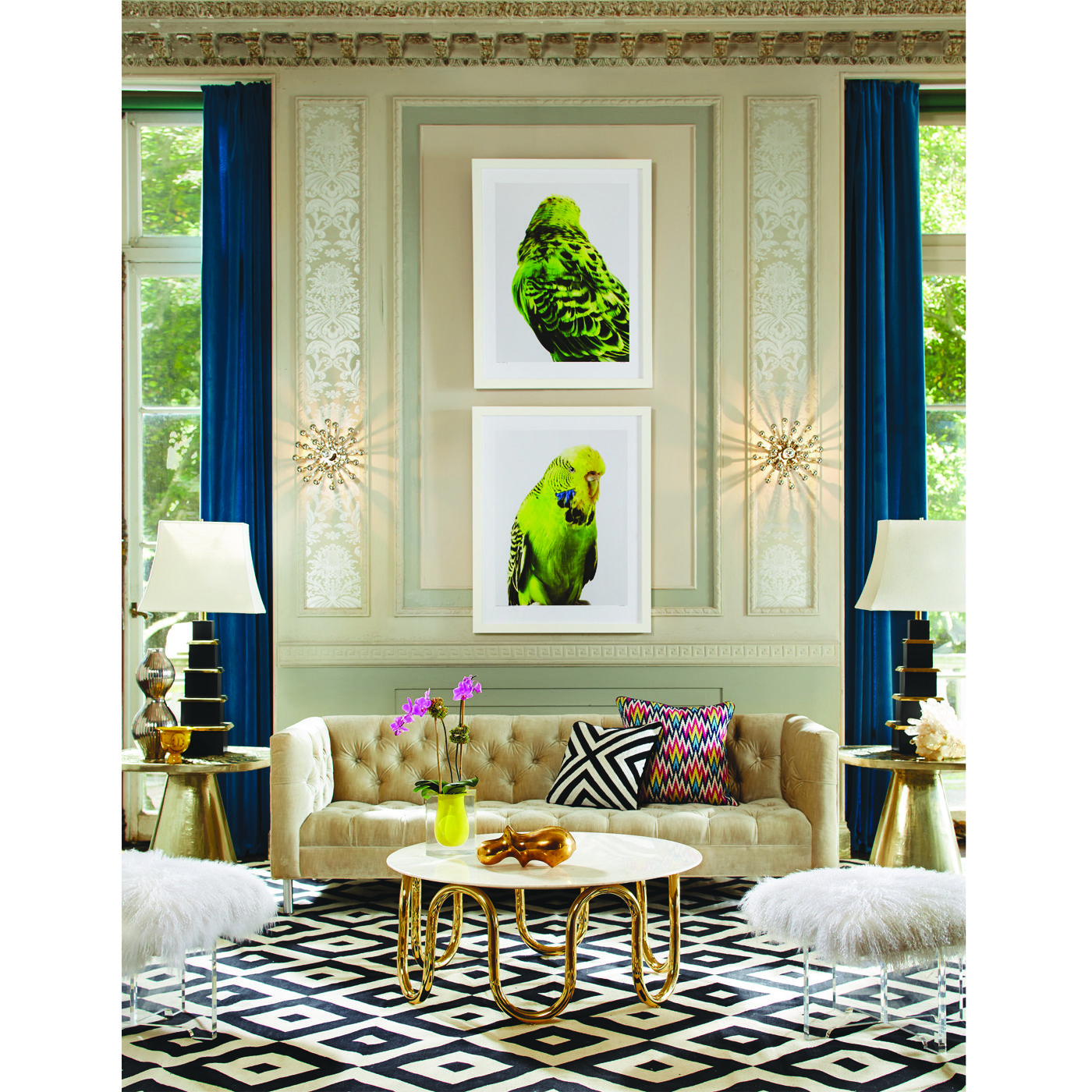 Jonathan Adler Baxter Sofa: Minimalist Glamour For Your Maximalist Room