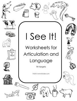 Coloring Worksheet and Book for the Articulation of THR