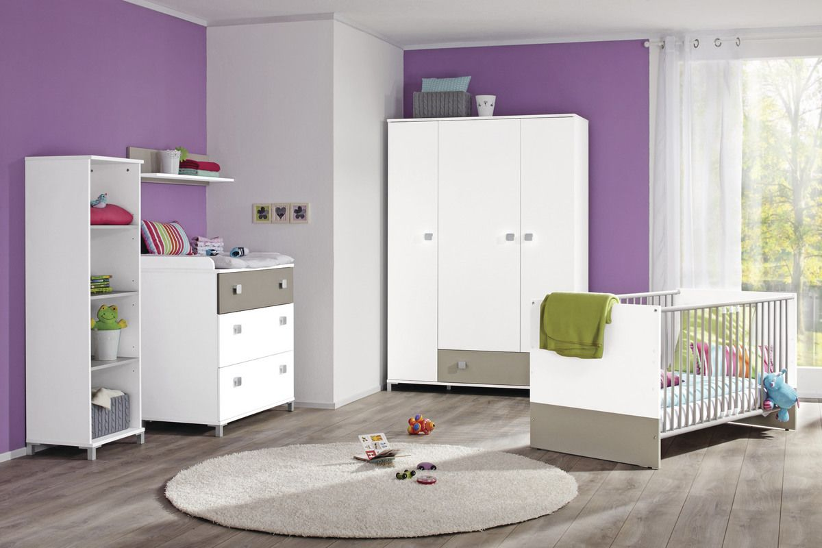 Babyzimmer Marlen •• Babyzimmer in der Farbausführung Icy White ...