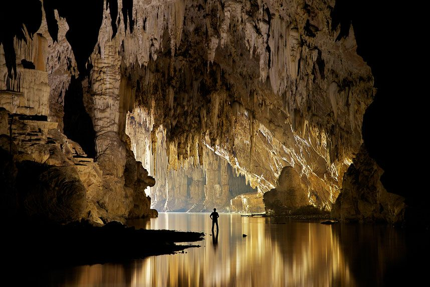 John Spies explores the ancient caves of Tham Lod in Pang Mapha, #Thailand - picture: John Spies /Barcroft Media