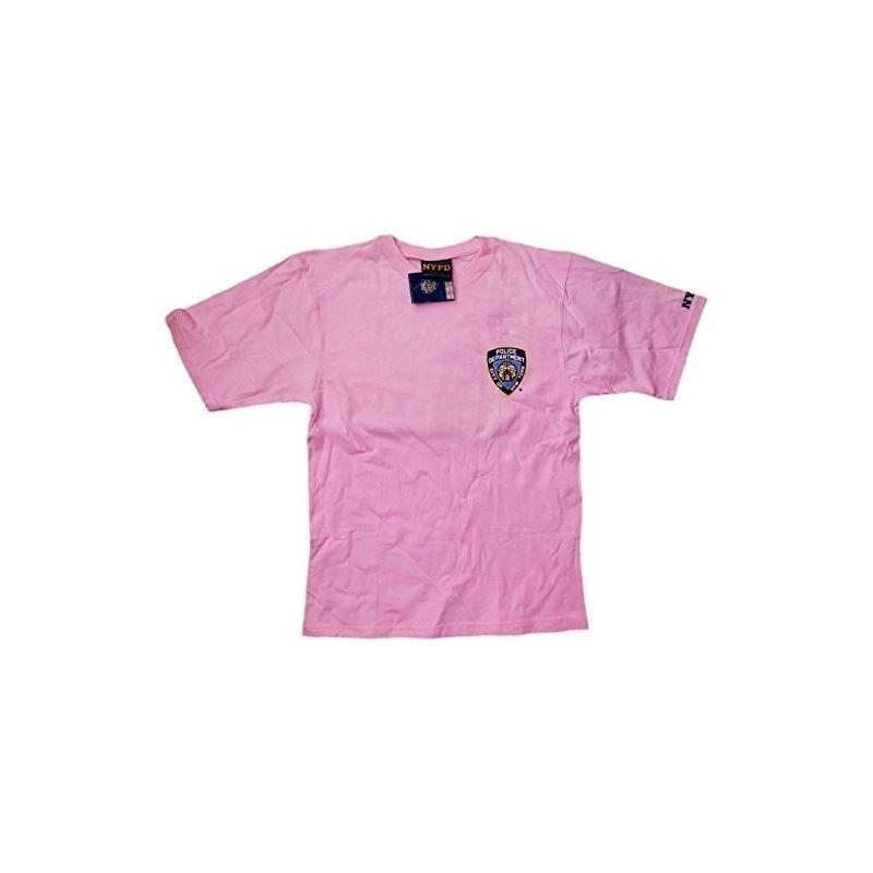 NYPD Kids Short Sleeve Screen Print T-Shirt Navy White Yellow New York Police