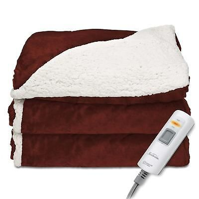 Electric Throw Blanket Walmart Endearing Reversible Sherpa Mink Heated Throw Warm Soft Plush Comfortable