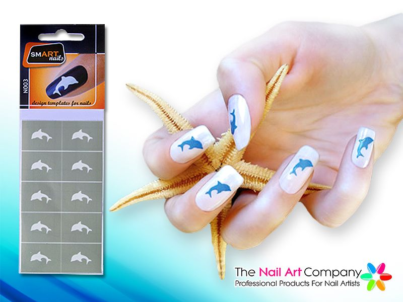 The Nail Art Company Smart Nails Dolphin Nail Art Stencil Set